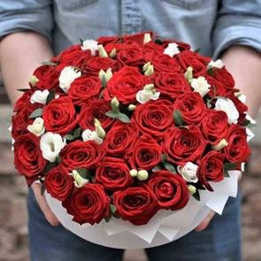 Цветочный торт от шеф-флориста (красный)
