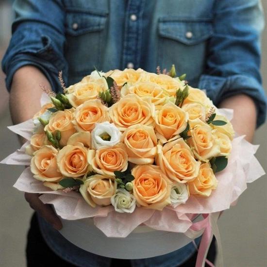 Цветочный торт от шеф-флориста (Персиковый) - фото 4676